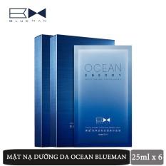 Mặt Nạ Dưỡng Da Cho Nam Ocean BLUEMAN Chính Hãng Cấp Ẩm, Se Khít Lỗ Chân Lông 25ml x 6 miếng ZL15020550