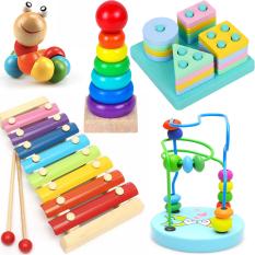 Combo đồ chơi gỗ cho bé phát triển trí tuệ, đồ chơi gỗ, đồ chơi cho bé