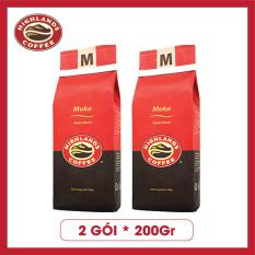 COMBO 2 gói Cà phê rang xay Moka Highlands Coffee 200g