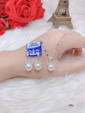 Bộ trang sức bạc giả trai 3 món