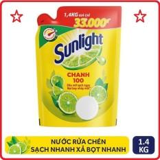 Nước rửa chén Sunlight chanh túi 1.4kg
