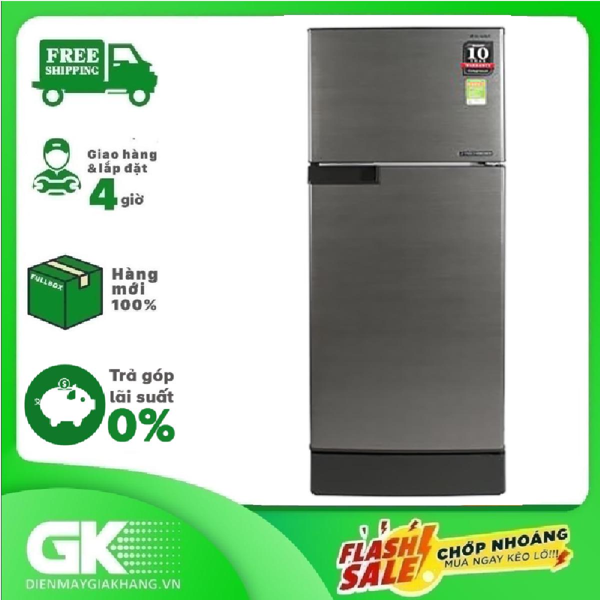 [HCM][GIAO HÀNG 2 – 15 NGÀY TRỄ NHẤT 30.08] TRẢ GÓP 0% – Tủ lạnh Sharp Inverter 165 lít SJ-X196E-DSS- Bảo hành 12 tháng