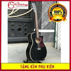 Đàn guitar acoustic DTY85 có lắp EQ gỗ thông nguyên tấm, âm thanh vang, độ bền cao – Bảo hành 2 năm