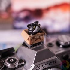 Hotshoe hình Mèo, cài chân flash máy ảnh