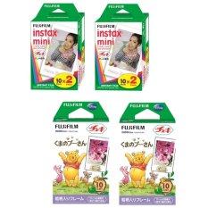 Bộ 02 hộp phim Instax Mini 20 tấm và 02 hộp film Instax MINI POOH 10 tấm
