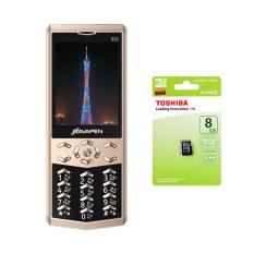 Bộ 1 Bavepen B35 2 Sim (Vàng) + Thẻ nhớ MicroSD 8GB Class 4
