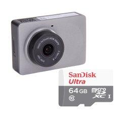 Bộ 1 Camera hành trình xe hơi ô tô Xiaomi Yi Smart Car DVR Bản tiếng anh kèm thẻ SanDisk 64GB Class 10