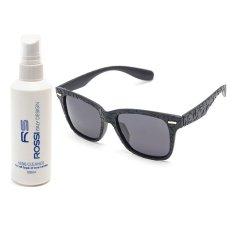 Bộ 1 kính mát nam – nữ và 1 chai nước rửa kính PAN 7807 (Đen)