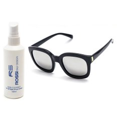Bộ 1 kính mát nữ và 1 chai nước lau kính PAN CLK318 (Xám tráng gương)