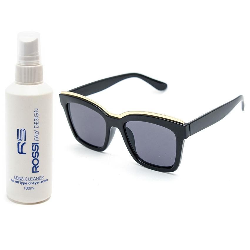Bộ 1 mắt kính nữ và 1 chai nước rửa kính PAN CT2063 (Đen)