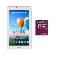 Bộ 1 Máy tính bảng Archos 70c Xenon 8GB 2 Sim (Trắng) + 1 Sim Dcom 3G Viettel