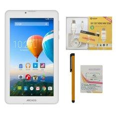 Bộ 1 Máy tính bảng Archos 70c Xenon 8GB 2 Sim (Trắng) + Bút cảm ứng Stylus Touch 1 đầu Pen-x + Sim Viettel + Dây cáp TITAN-CA08