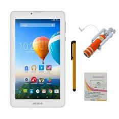 Bộ 1 Máy tính bảng Archos 70c Xenon 8GB 2 Sim (Trắng) + Bút cảm ứng Stylus Touch 1 đầu Pen-x + Sim Viettel + Gậy chụp ảnh