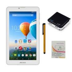 Bộ 1 Máy tính bảng Archos 70c Xenon 8GB 2 Sim (Trắng) + Bút cảm ứng Stylus Touch 1 đầu Pen-x + Sim Viettel + Pin Sạc Dự Phòng Genius U500 5200mAh