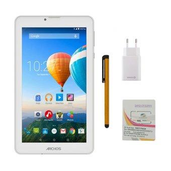 Cửa hàng bán Bộ 1 Máy tính bảng Archos 70c Xenon 8GB 2 Sim (Trắng) + Bút cảm ứng Stylus Touch 1 đầu Pen-x + Sim Viettel + Sạc Nhanh Titan