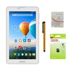 Bộ 1 Máy tính bảng Archos 70c Xenon 8GB 2 Sim (Trắng) + Bút cảm ứng Stylus Touch 1 đầu Pen-x + Sim Viettel + Thẻ nhớ MicroSd 8GB Class 4