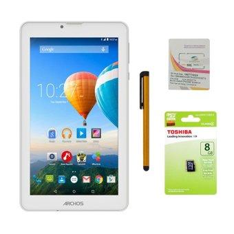 Giá Sốc Bộ 1 Máy tính bảng Archos 70c Xenon 8GB 2 Sim (Trắng) + Bút cảm ứng Stylus Touch 1 đầu Pen-x + Sim Viettel + Thẻ nhớ MicroSd 8GB Class 4