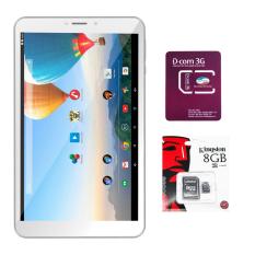 Bộ 1 Máy tính bảng Archos 80c Xenon 16GB 2 Sim (Trắng) + 1 Sim Dcom 3G Viettel + 1 Thẻ nhớ MicroSD 8GB Class 4