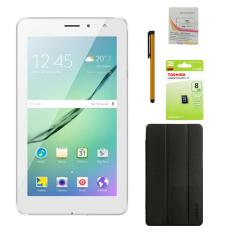 Bộ 1 Máy tính bảng Masstel Tab 706 8GB 2 Sim (Trắng) + Bao da + Bút cảm ứng Stylus Touch 1 đầu Pen-x + Sim Viettel + Thẻ nhớ MicroSd 8GB Class 4