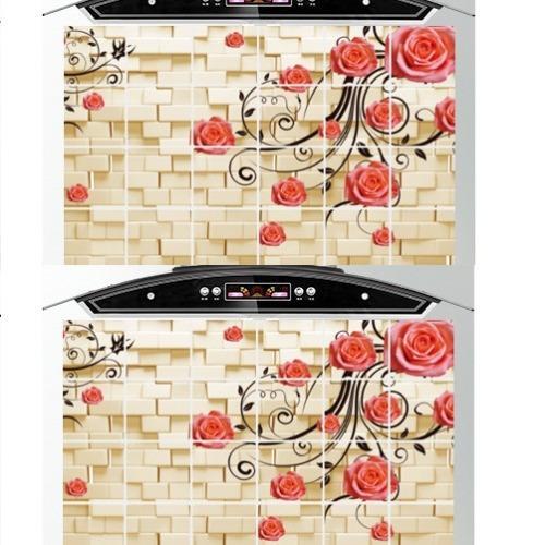 Giá Sốc Bộ 2 giấy dán bếp cách nhiệt cỡ lớn 60*90cm (Hoa leo tường)