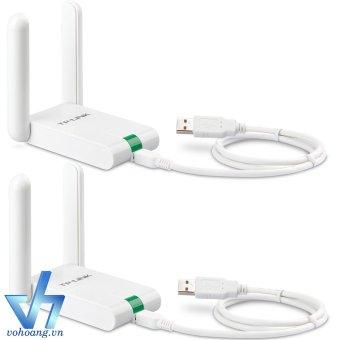 Bộ 2 USB thu sóng Wifi TP-Link 822N (Trắng)