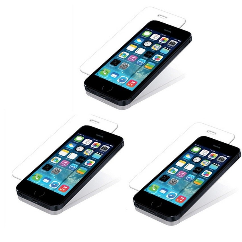 Bộ 3 Miếng dán cường lực cho Iphone 5/5S/SE - NVPro 30304 (Trong suốt)