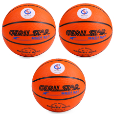 Bộ 3 quả bóng rổ Gerustar số 6 cao su (Cam)