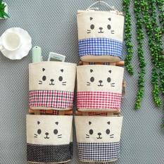 Bộ 3 Túi Treo Tường Vải Bố Hình Mèo