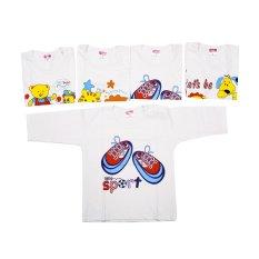 Bộ 5 áo cài vai tay dài trắng Nanio AD115