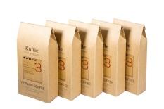 Bộ 5 gói cà phê bột Kuffie số 3 100% Pure Coffee Robusta & Arabica x 200g