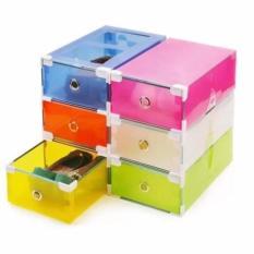 Cách mua Bộ 6 hộp đựng giày nhựa trong suốt khung thép CS557 (Đa màu sắc)