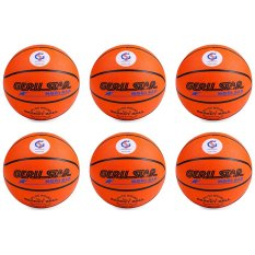Bộ 6 quả bóng rổ Gerustar số 6 cao su (Cam)