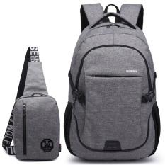 Bộ Balo túi đeo chéo HARAShop HR056 (Xám)