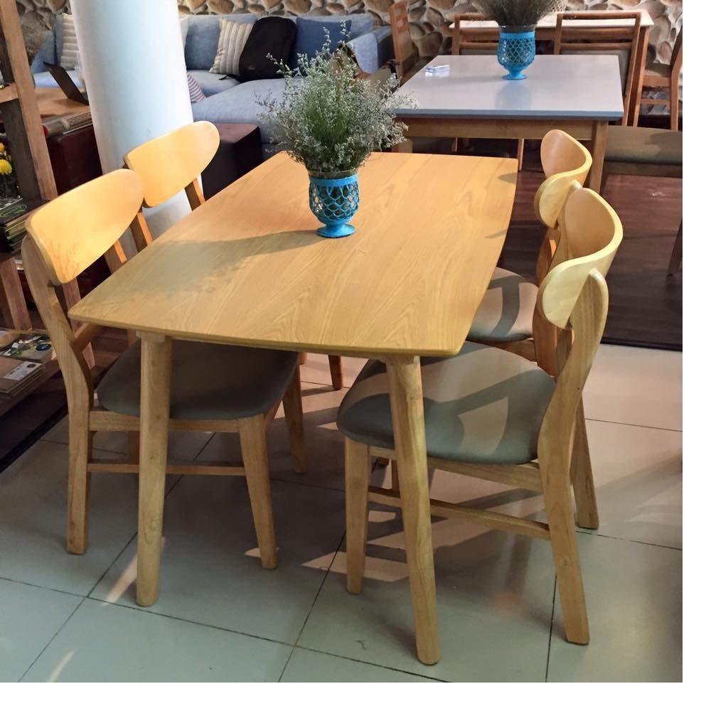 Bộ bàn ăn KlossoKBA014-TN (Màu tự nhiên)