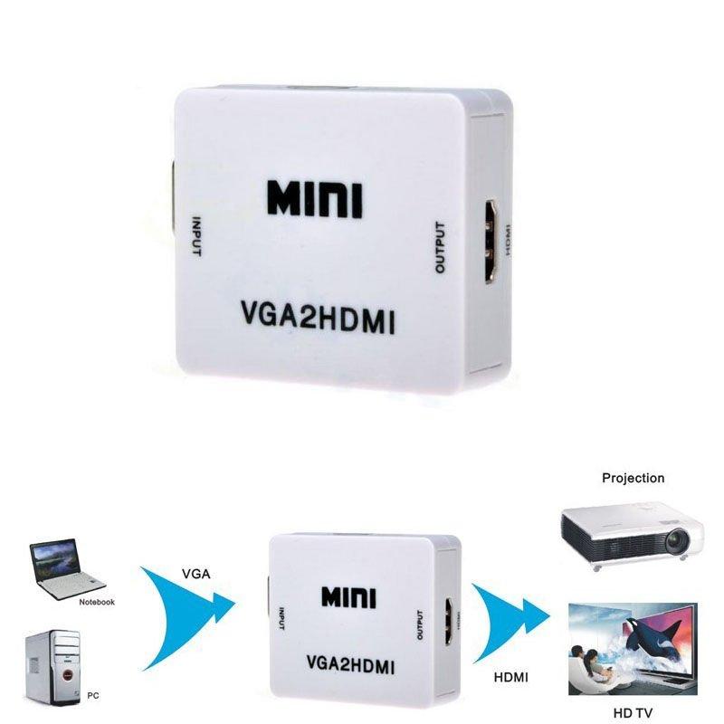Mua Bộ chuyển đổi VGA to HDMI cao cấp giá rẻ VGA2HDMI ở đâu tốt?