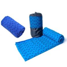 Bộ khăn trải thảm tập yoga 3 chiếc 183 x 63 cm (Xanh dương)