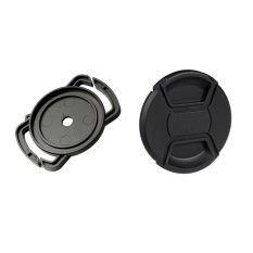 Bộ lenscap và kẹp giữ lenscap Hongkong electronics (Đen)