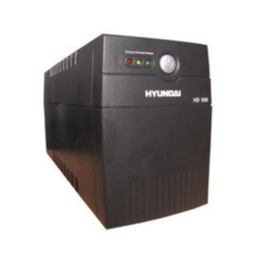 Bộ lưu điện dùng cho máy tính UPS Hyundai HD500VA (Đen)