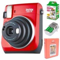 Bộ máy ảnh chụp lấy liền FUJI INSTAX MINI 70 DO và bộ phụ kiện Instax ( Pin sạc CR2 + Album ảnh mini + hộp film mini (10/PK) – Hãng phân phối chính thức