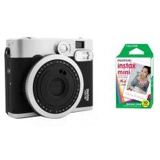 Bộ Máy ảnh chụp lấy liền Fujifilm Instax Mini 90 (Đen) và Giấy in cho máy ảnh Fujifilm Instax Mini