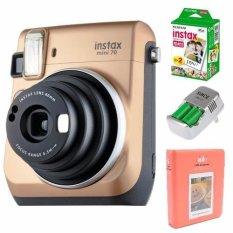 Cập Nhật Giá Bộ máy chụp ảnh lấy liền FUJI INSTAX MINI 70 – GOLD tặng Bộ phụ kiện Instax (Pin sạc CR2 + ALBUM MINI + Hộp phim MINI (10/PK) (Hãng Phân Phối Chính Thức)