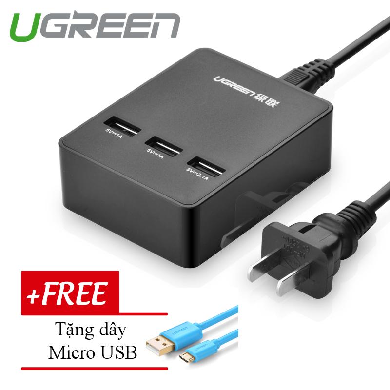 Vì sao mua Bộ sạc để bàn đa năng 3 cổng USB công suất 20W 5V/4A UGREEN CD101 20385