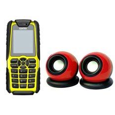 Bộ Suntek A8 Plus (Vàng) + Loa Suntek IF-10 (Đỏ)