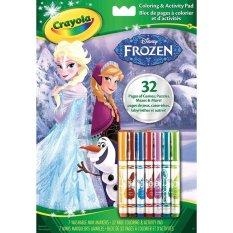 Bộ tập và bút tô màu Crayola Coloring & Activity Pad Disney Frozen Công chúa Elsa