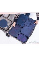 Cách mua Bộ túi chia đồ dùng cá nhân và quần áo ra 6 túi Kim Phát (xanh đậm)