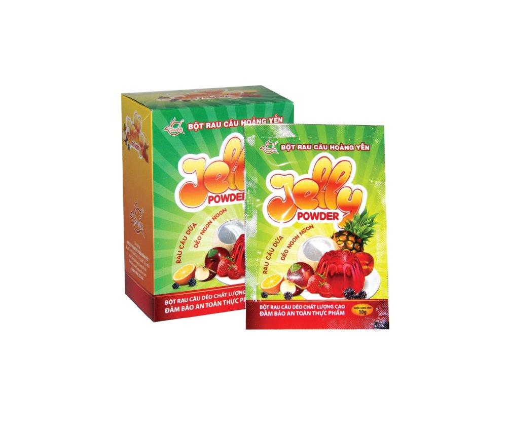 Bột rau câu dẻo Hoàng Yến Jelly Power 12 gói x 10g