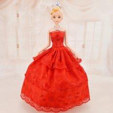 Búp Bê 12 Khớp Váy Đỏ Xinh Xắn Kèm 03 Váy Ngắn B01