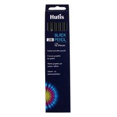 Bút chì thân gỗ đen Hutis PC 6600