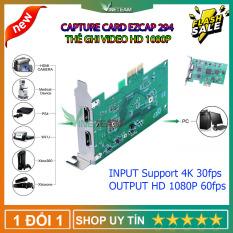 EZCAP 294 1080P HD Thẻ hộp ghi video Game Capture hdmi cho OBS Live Broadcast Webcast cho Windows cho Xbox PS4 Trình ghi trò chơi Tương Thích Với Các Hệ Thống Windows/Mac/Linux