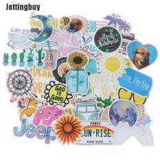 Đề Can Dán Xe Mô Tô Jettingbuy, 50 Miếng Dán Chống Nước Họa Tiết Hoạt Hình Cho Xe Đạp, Laptop